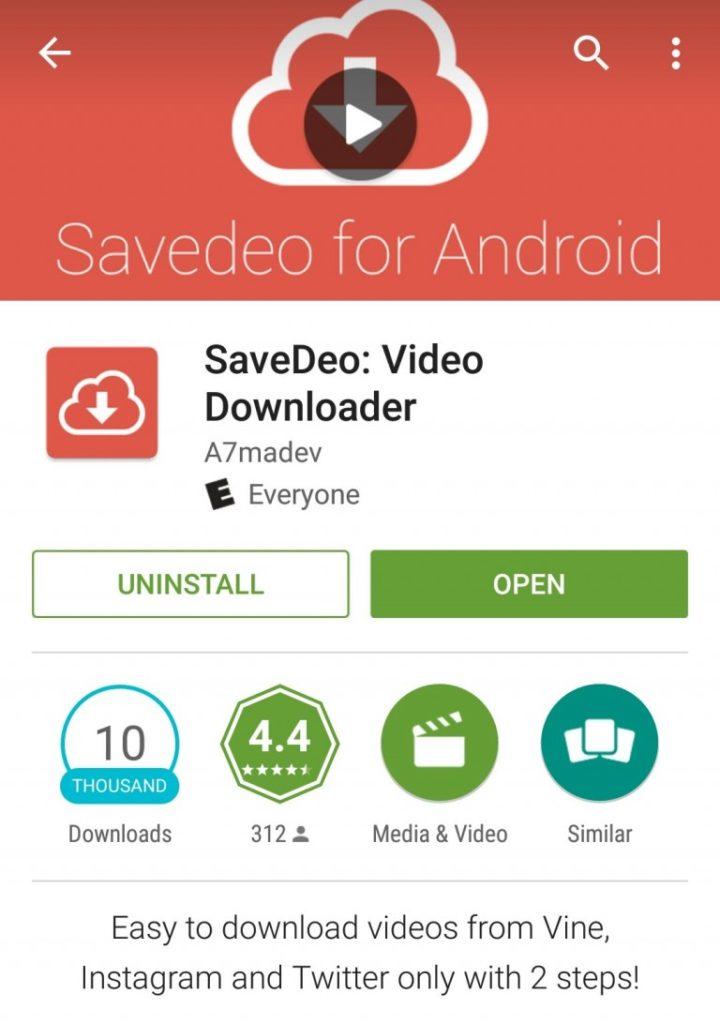 приложение savedeo для загрузки видео из ютуб