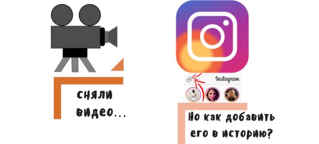 как добавить видео в Инстаграм историю
