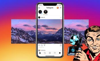 как выложить панораму в Instagram